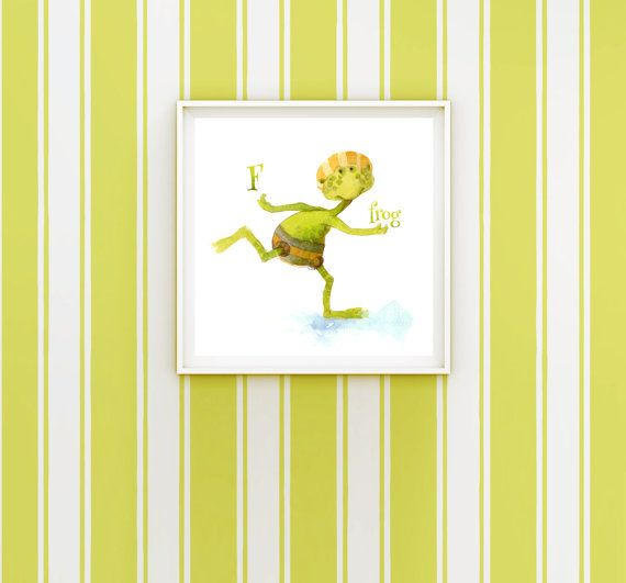 Frog Painting Digital Download Alphabet Painting