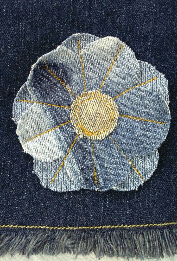 Denim flower upcycling
