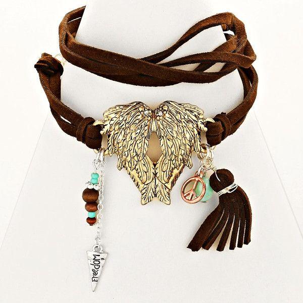 Armbänder & Armreife - *ANGELWINGS*Boho Wickelarmband Peace Hippie Ethno  - ein Designerstück von santa-fee bei DaWanda