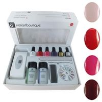 Ultimate home starter kit for LED gel polish. Comes with and small travel size LED lamp. www.gelpolish.co.nz