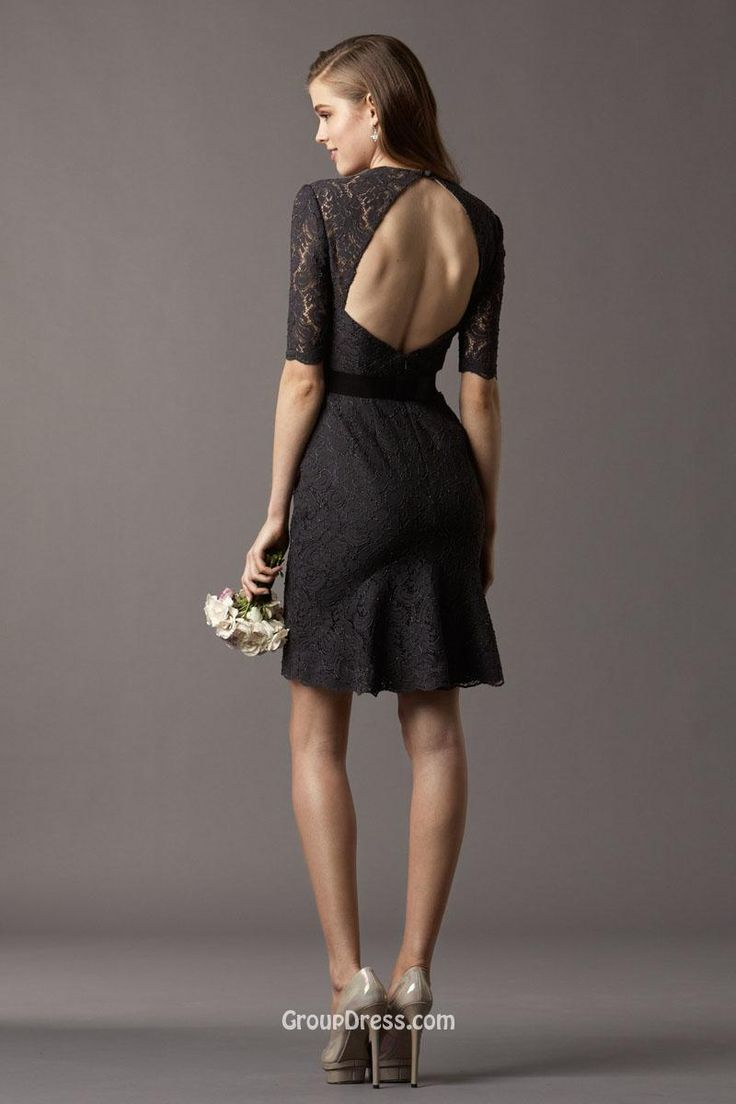 21 best noir by lazaro bridesmaids images on pinterest cheap black lace short sleeve queen neckline short slim keyhole back bridesmaid dress is on sale buy black lace short sleeve queen neckline short slim ombrellifo Image collections