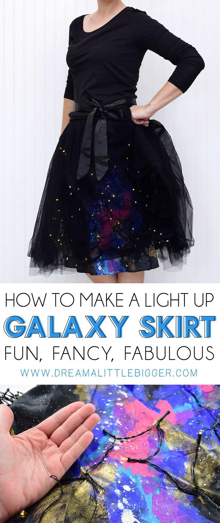 DIY Lighted Galaxy Skirt