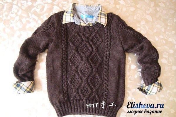 Вязание спицами мужские свитера ромбами