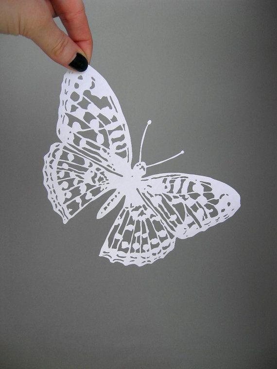 Intricate Butterfly Papercut Scherenschnitte in by catfriendo