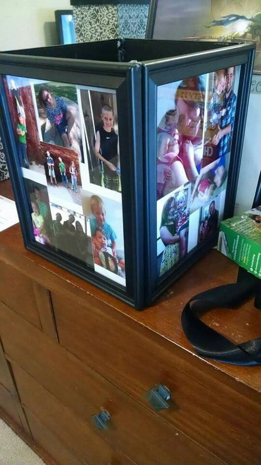 "picture box.  Can say ""leave us a good wish to open on our first anniversary"". This is such a great idea. It's just 4 picture frames glued together. Can use a 5th 1 for the bottom of it or use something else that'll be sturdy enough. Make sure it's clearly labeled so people know what it's for."
