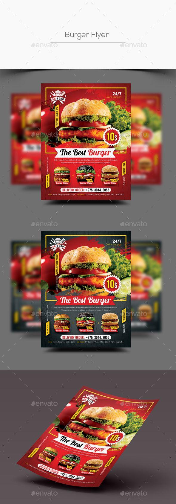 #Burger #Flyer - #Restaurant Flyers