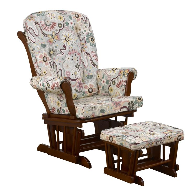 Penny Lane Floral Glider with Ottoman
