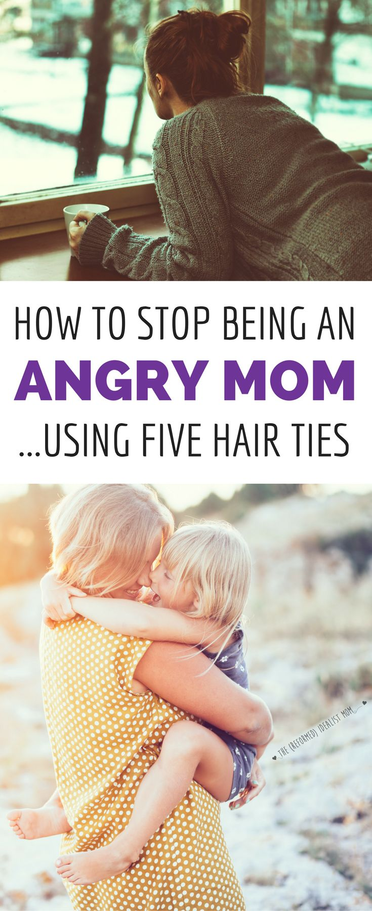 Angry mom? This simple trick using 5 hair ties will make you go from angry mom to happy mom. And the BEST part is how your kids will react! When you're struggling with your temper, this will get you back on track to enjoying motherhood. via @kellyjholmes
