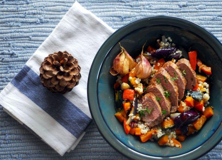 Salát s pečenou dýní a čirokem
