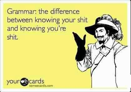 Knowing your sh*t lolFunny Funny, Pets Peeves, Grammar Nazi, Laugh, Quotes, True, Funny Stuff, Humor, Ecards