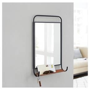 Tubular Metal Mirror with Shelf - Threshold™ : Target