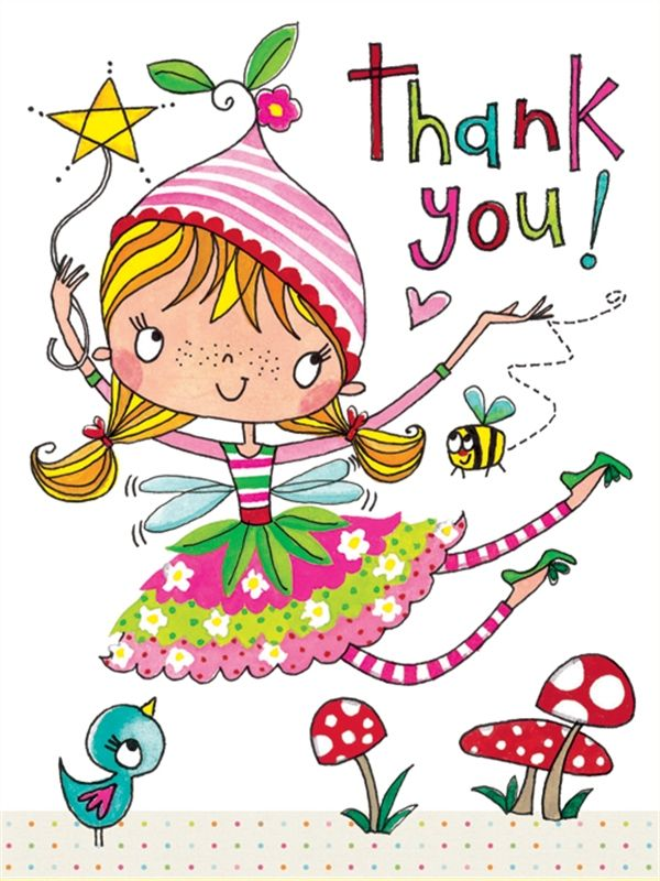 PK140 Thank You - Flying Fairy - Packs of 5 - Rachel Ellen Designs – Card and Stationery Designers and Publishers