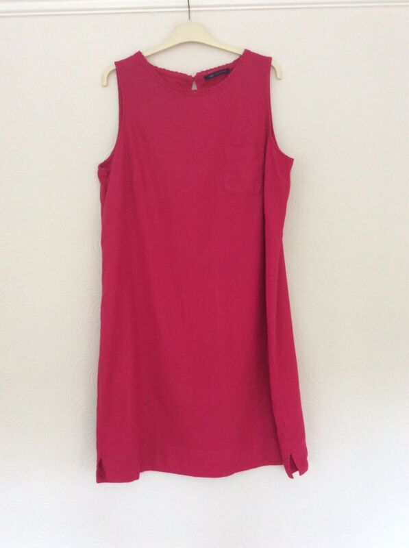 M/&S FLORAL shift  Dress Black/& Red Midi Sleeveless Size Uk size 14