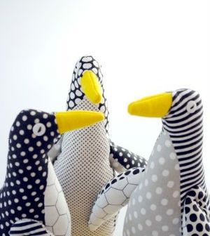 Pinguim de tecido passo a passo