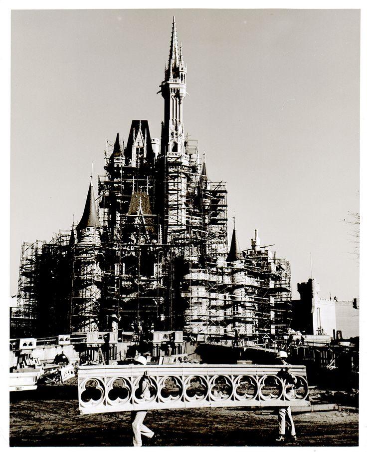Cinderella's Castle construction