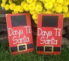 Chalkboard Days til Santa countdown sign by Dingbatsanddoodles