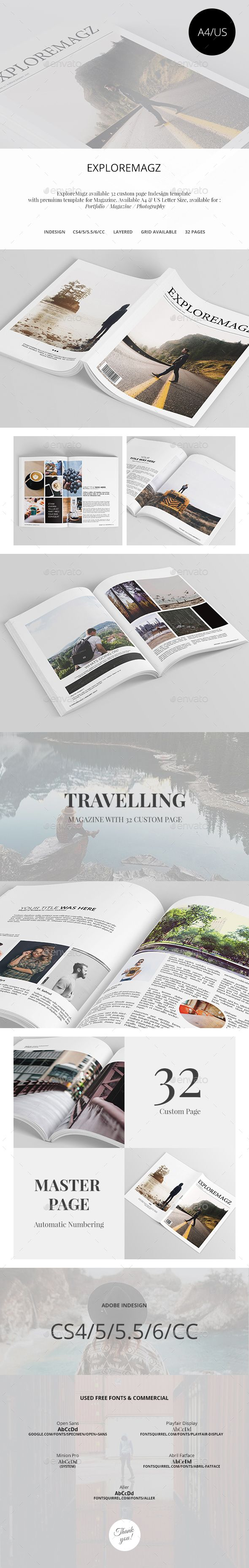 Exploremagz Magazine Template InDesign INDD #design Download: http://graphicriver.net/item/exploremagz-magazine/14404230?ref=ksioks