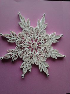 Quilling star idea. If I knew how to quill....