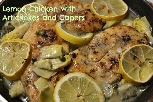 Chicken With Artichokes And Capers Recipes — Dishmaps