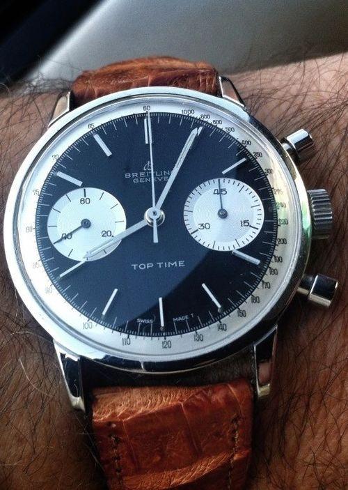 Breitling watch #montre #marron #bracelet cuir