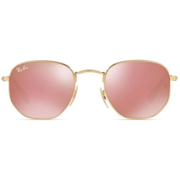 Ray-Ban Oval Sunglasses, 51mm ($185) ❤ liked on Polyvore featuring accessories, eyewear, sunglasses, oval glasses, ray ban sunnies, ray ban glasses, ray ban eyewear and ray ban sunglasses