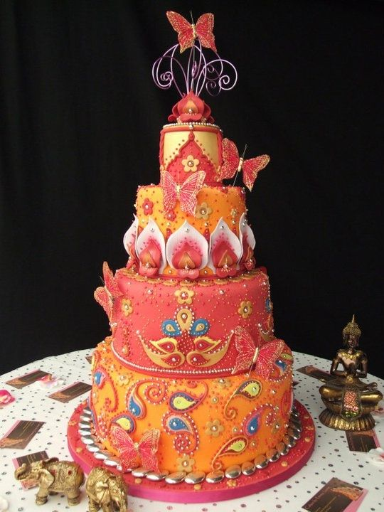 Beautiful and stunning #Bollywood #Wedding #Cake Great #CakeDecorating We love and had to share!