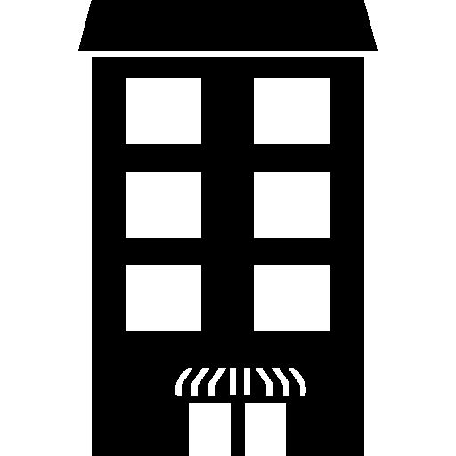 Tall building with covered door I Free Icon