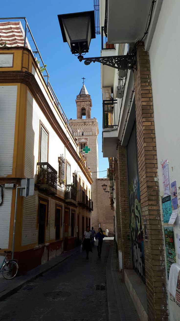 Calle Castellar en direction de la place San Marcos,.Séville