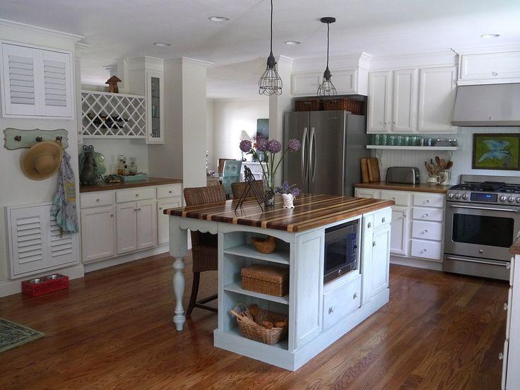 Dated Ranch Home kitchen remodel, cottage style, mint green and - nordischer landhausstil