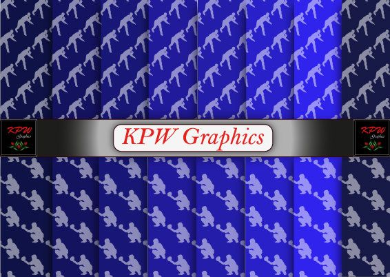 Baseball Players 2 types Blue Digital Printable by KPWgraphics