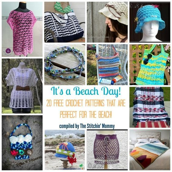 It's a Beach Day! 20 Free Crochet Patterns That Are Perfect for the Beach!