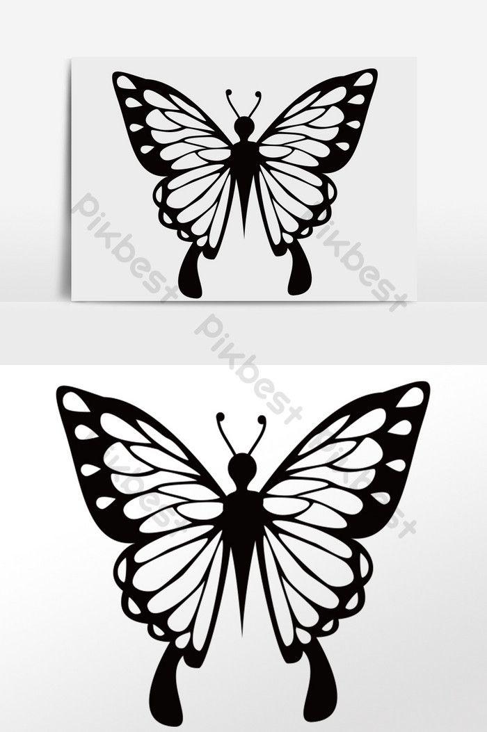 ومن ناحية رسم الكرتون أبيض وأسود فراشة تحلق التوضيح صور Png Psd تحميل مجاني Pikbest White Butterfly How To Draw Hands Illustration