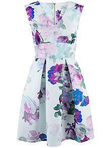Floral Blossom Skater Dress