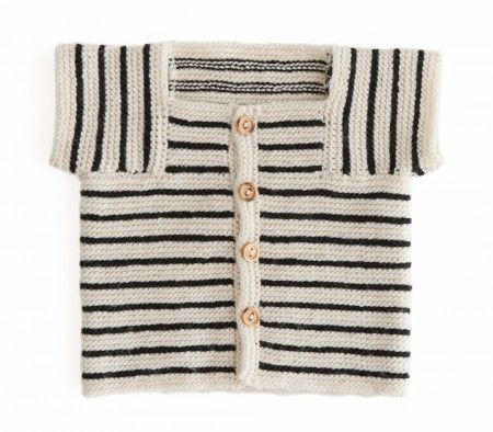 Handmade Baby Sweater (follow the link in the post for a free pattern and tutorial)