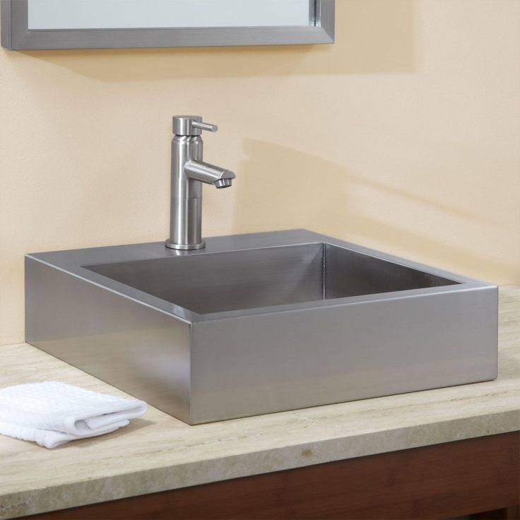 beautiful stainless steel sink in bathroom - Stainless
