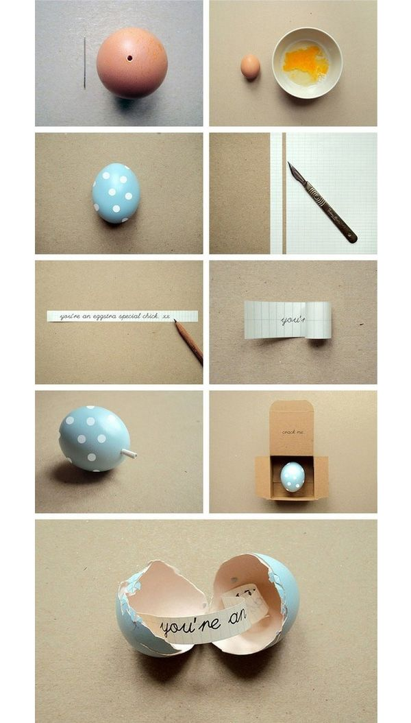How to send a cute message in an egg step by step DIY tutorial instructions, How to, how to do, diy instructions, crafts, do it yourself, diy website, art project ideas