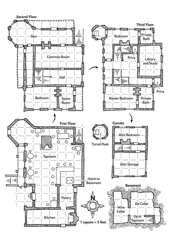 Trollskull Manor Dungeon Maps Fantasy Map Pathfinder Maps
