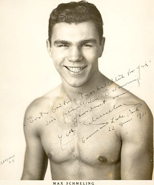 Max Schmeling was a German boxer in a time when it was a bad to be a German anything - the 1930's. He was a heavyweight champion back in the golden age of boxing - HOT DAMN