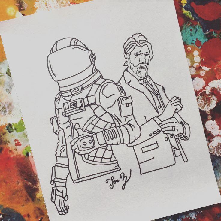 Fortnite Season 3 Dark Voyager And The Reaper John Wick Line Art Nathan Charlet Art Charlet Dark Fortnite Line Nathan Line Art Art Cool Drawings