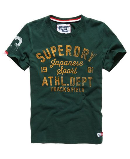 Shop Superdry Mens Trackster Vintage T-shirt in Enamel Green. Buy now with  free delivery from the Official Superdry Store.