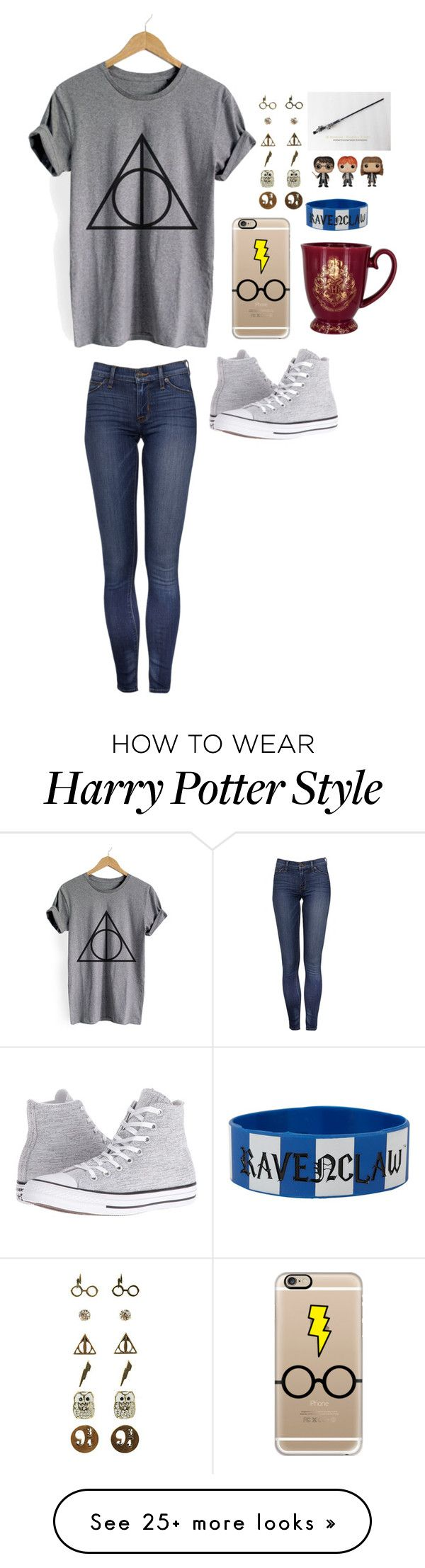 """I'm a Harry Potter mood"" by clairebear89 on Polyvore featuring Casetify, Warner Bros., Funko and Converse"