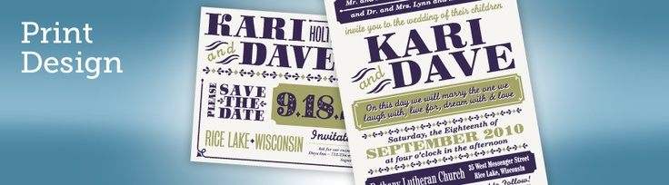 Letterpress Wedding Save the Date and Invites