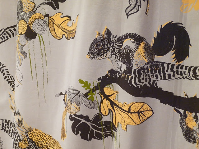 Acorn & Squirrel fabric designed by Lynsey Jean Henderson.