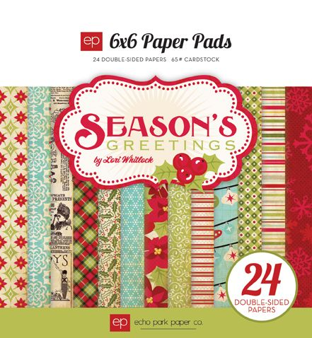 Season's Greetings Collection by Echo Park Paper. More happy newsprint! Love the colors here, too.