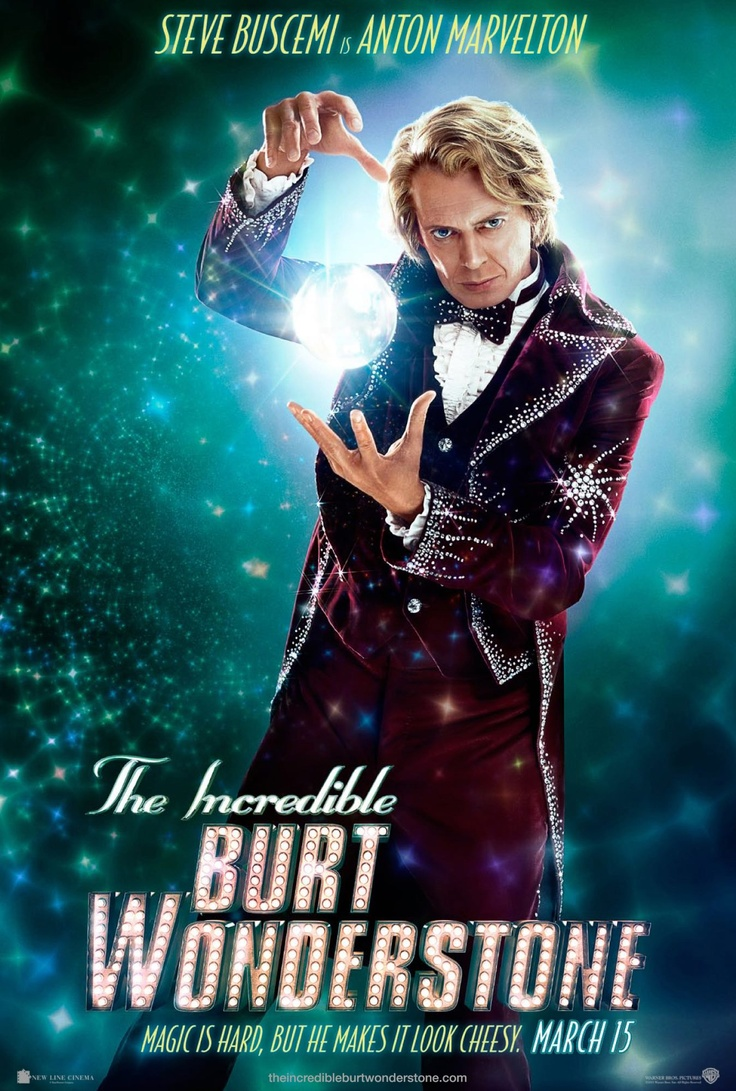 #Magic is hard, but he makes it look cheesy. #SteveBuscemi in #BurtWonderstone @Warner Bros. Entertainment