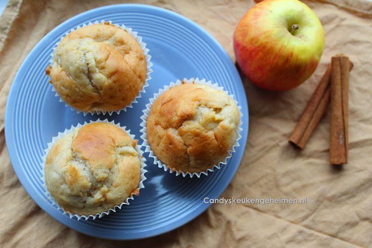 Heerlijke herfstige appel en kaneel muffins