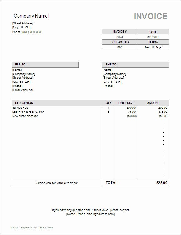 Utility Bill Template Free Download New 10 Simple Invoice Templates Every Freelancer Should Use In 2020 Templates Free Download Bill Template Invoice Template