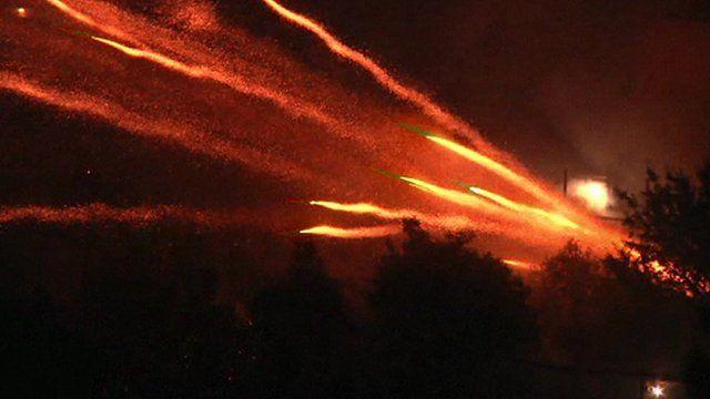 BBC News - 'Firework battle' as Greek churches mark Easter