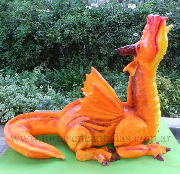 Mega Dragon Cake / Torta de Dragón Gigante | This dragon cak… | Flickr