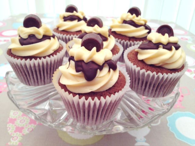 Rolo Cupcakes.